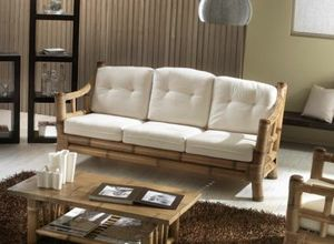 Sofa Kona, 3-seater ethnic sofa, bamboo structure