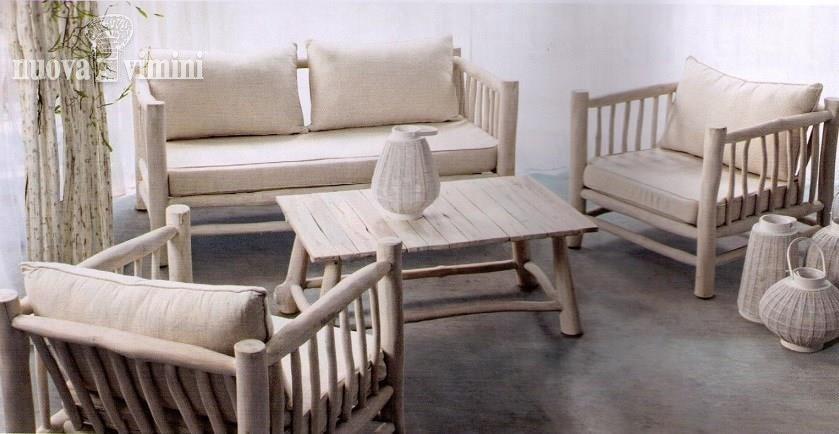 Sofa Sahel, Ethnic wooden sofa