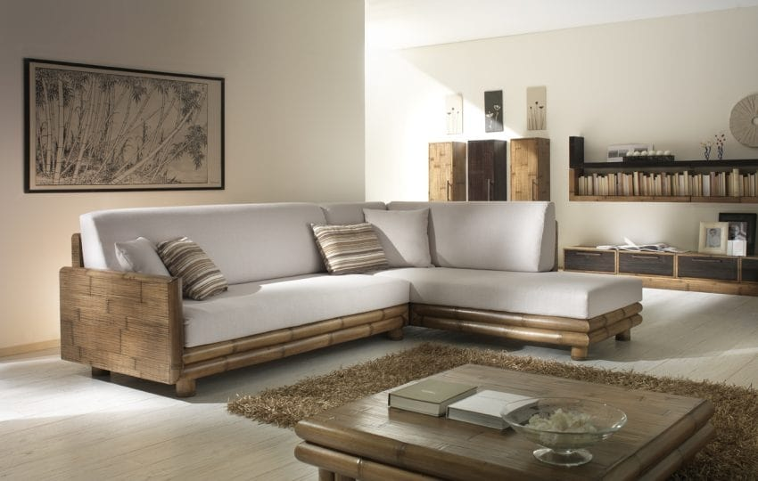 Sofa TSU honey, Modular ethnic sofa