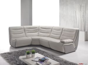 Spartaco, Modular corner sofa with removable armrests