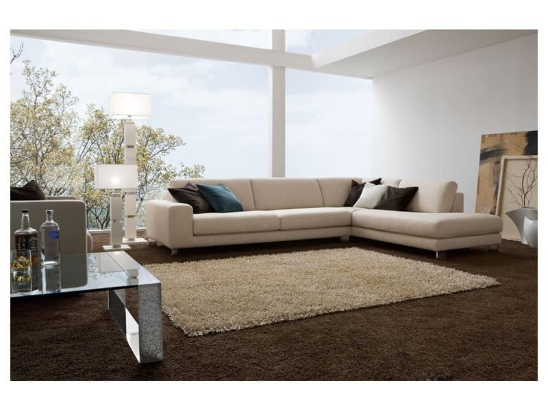 Square Elegant Sofa With Wooden Frame Diffe Finishes