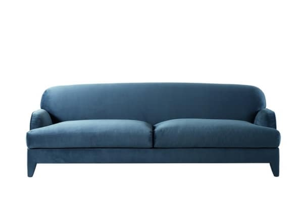 St. Germain sofa, Fabric or leather upholstered sofa