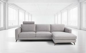 Stromboli, Modern sofa with steel feet