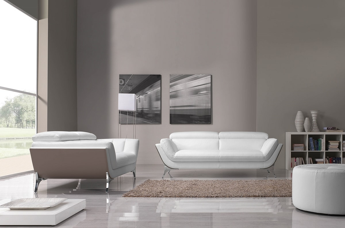 Sueli, Sofa with soft and welcoming shapes