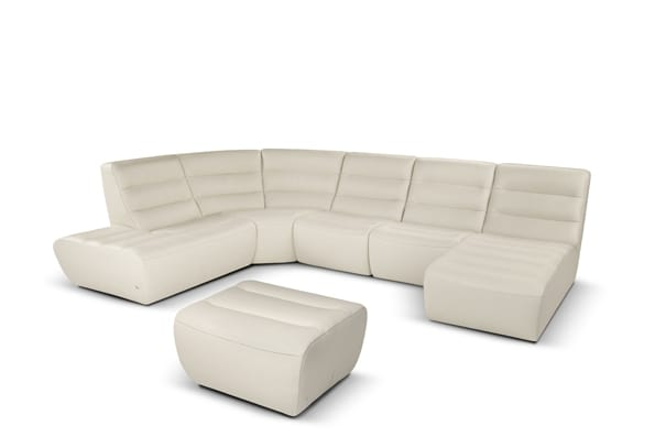 Summer Corner sofa with rounded shapes