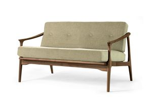 T-100, Sofa with structure in walnut wood