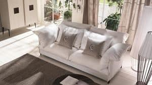 Tango sofa, Sofa with metal frame, customizable coating