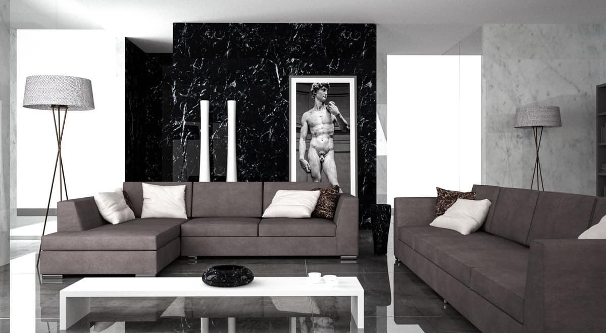 Titanic, Sofa with peninsula, modular and elegant, for living