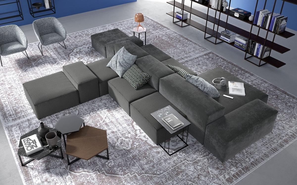 Tom, Modular sofa with a soft look