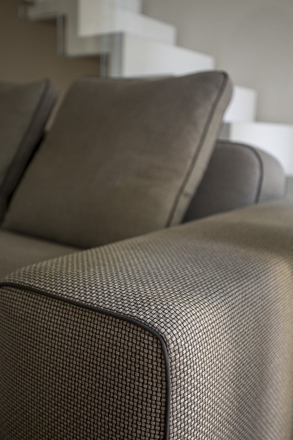 Tyron, Modular sofa, upholstered in fabric