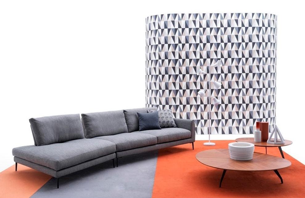 Vega, Sofa with a modern design