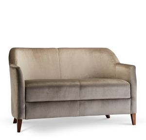 VERONA LOUNGE 2, Two-seater sofa with wooden frame