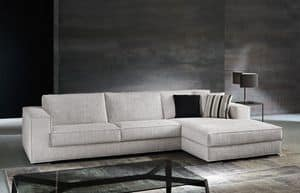 Vision, Sofa with completely removable fabric, for living room