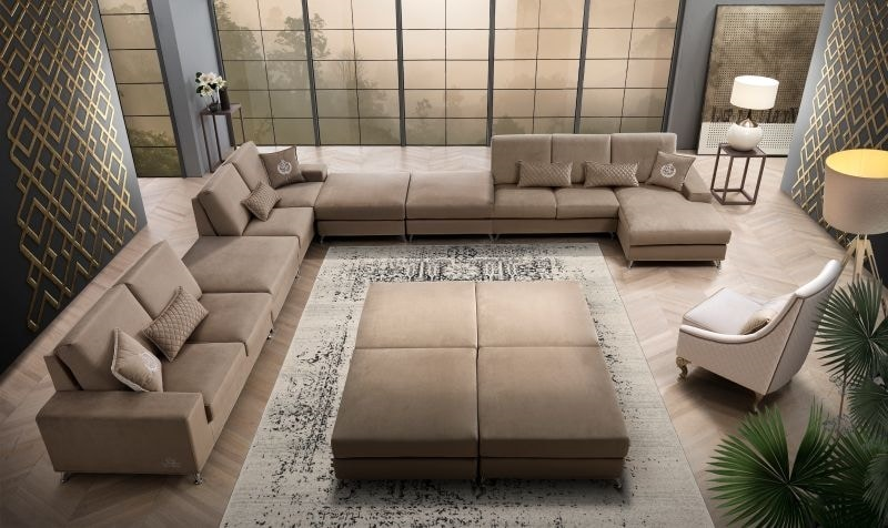 VOJAGER, Modern sofa, modular, with removable upholstery