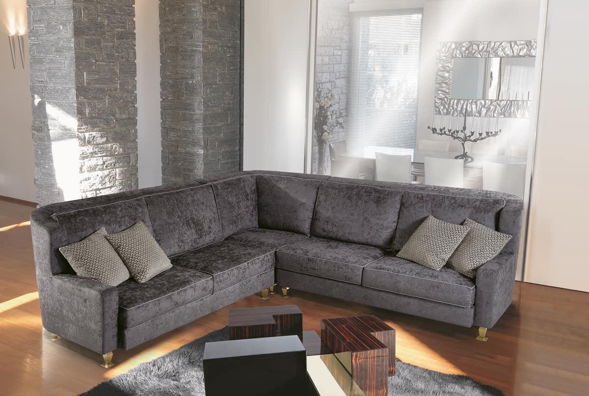 W02E + W02C, Modular Sofa Upholstered With Elegant Fabric