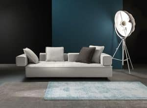 Zoom, Sofa with removable fabric, for trendy lounge area