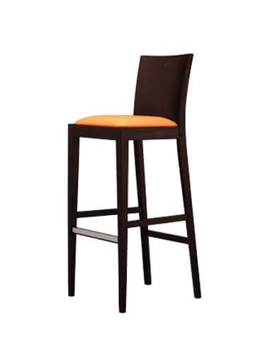 331 SG, Modern stool, with smooth back, for hotels