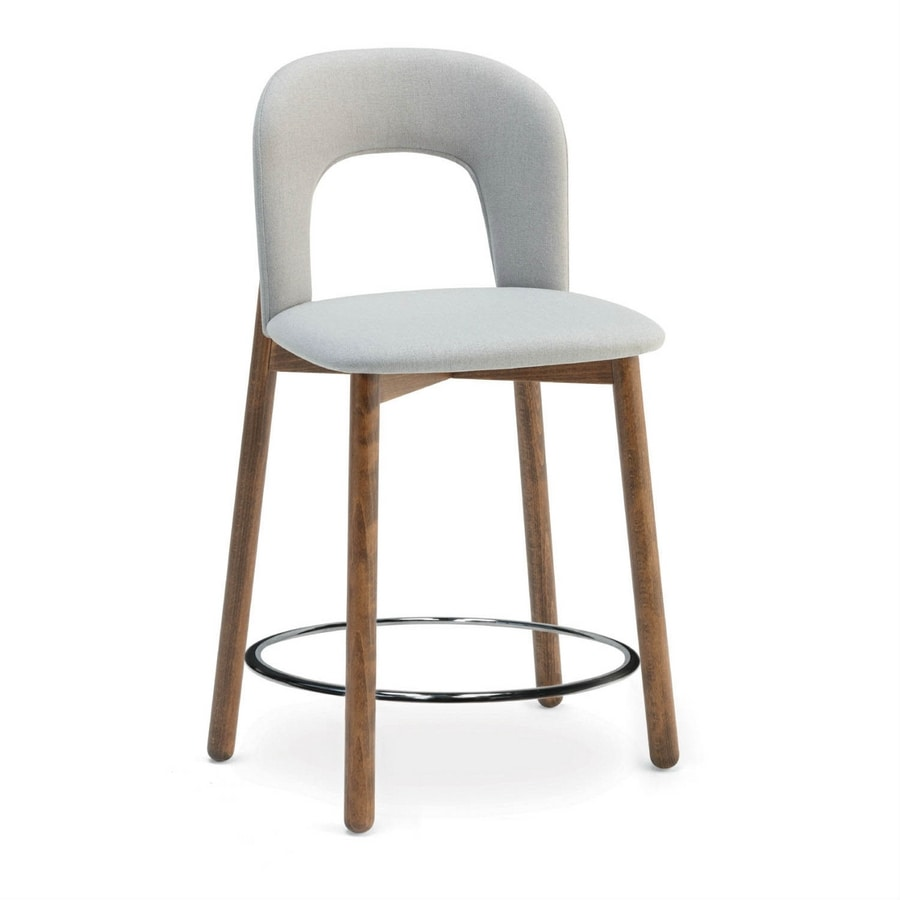 Aiko SGF W, Stool with wooden base