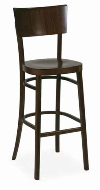 Arezzo-SG, Stool in wood for hotel and bar