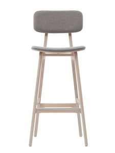 ART. 311-IM-BK ROSE, Wooden stool, padded
