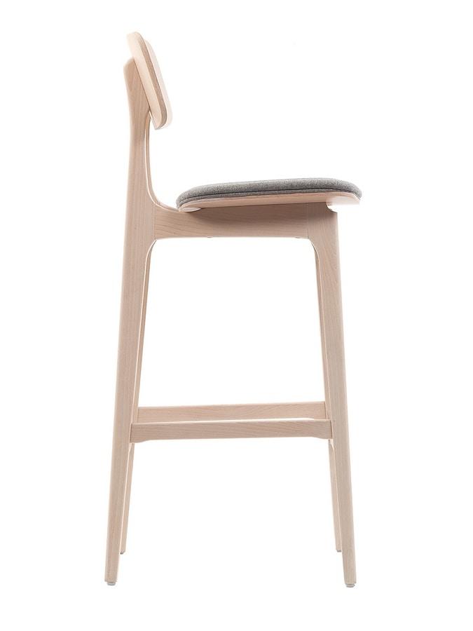 ART. 311-IM ROSE, Stool with padded seat