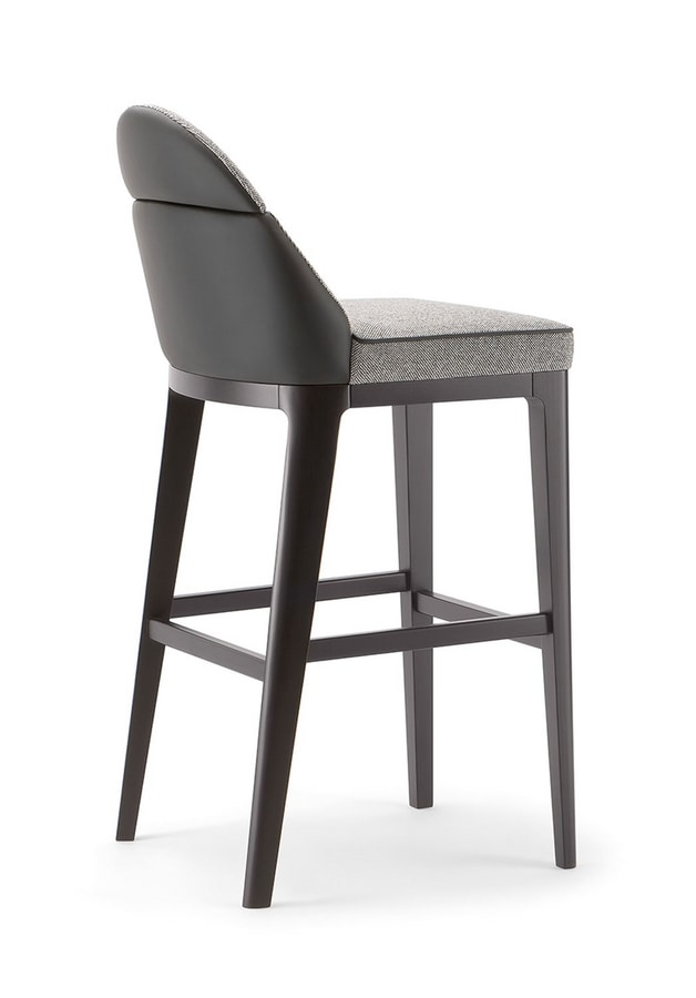 ASTON BAR STOOL 062 SG, Stool with a linear and simple design