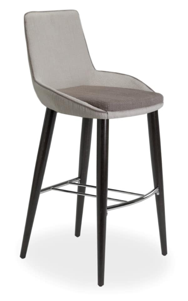 Baxi SGFW, Padded stool in oak with coated fabric