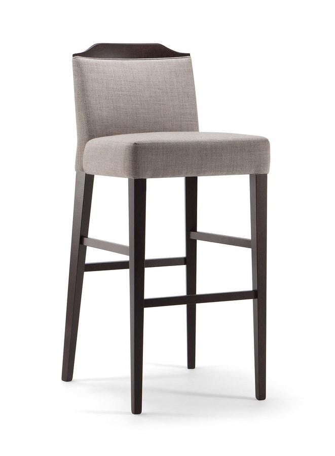 BOSTON BAR STOOL 010 SG, Modern padded stool