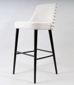 BS525B - Barstool, Padded wooden stool