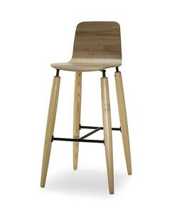CG 938076 SG, Modern wooden stool for bar and kitchen