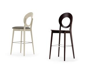 Eggy 10030, Stool with perforated round backrest