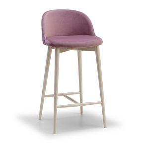 Emma SG, Stool in wood, padded