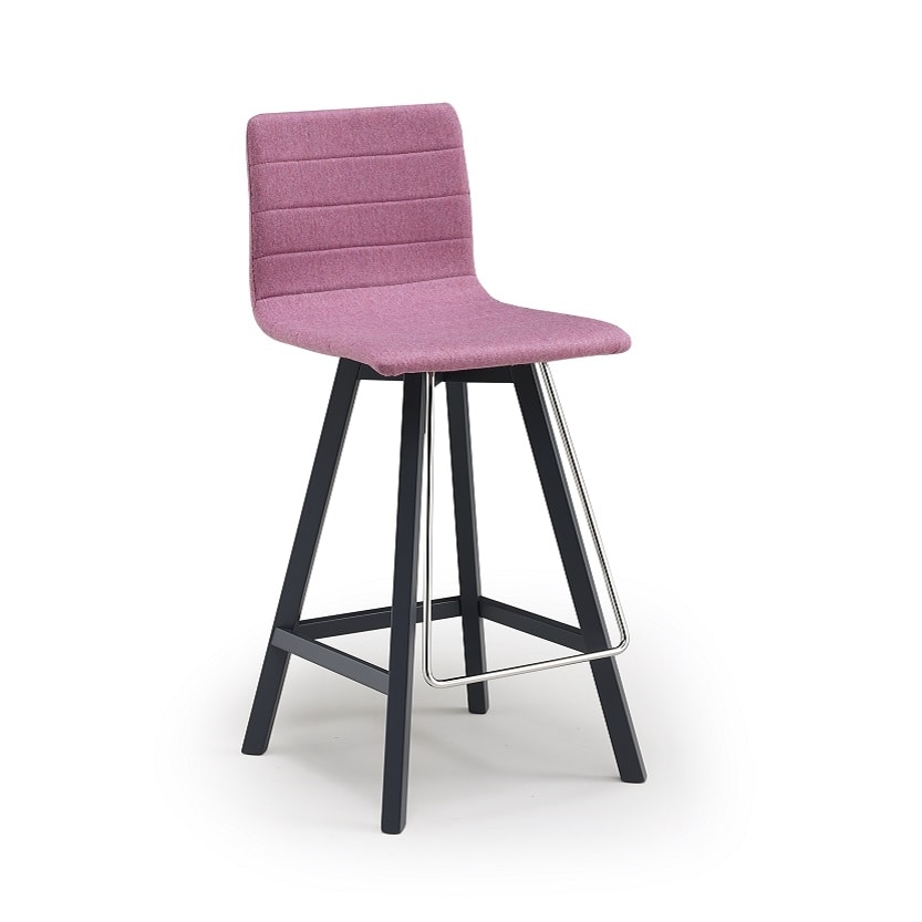 Firenze-SGW, Modern stool with upholstered seat