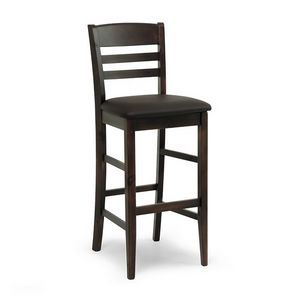 H/354 Annamaria, Stool in wood with upholstered seat