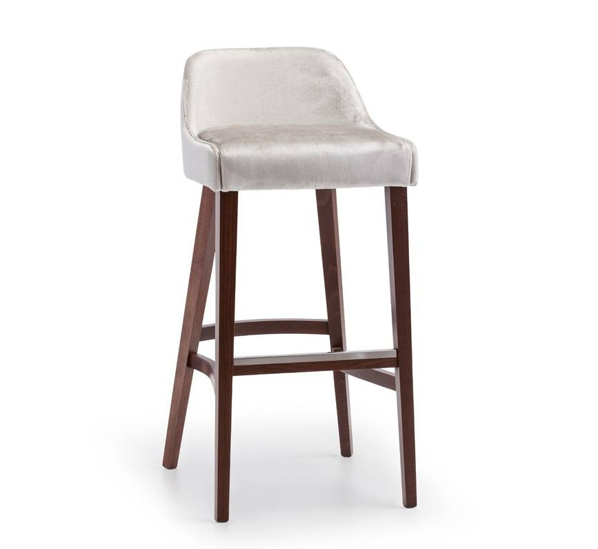 Helen SG, Upholstered stool, wooden legs