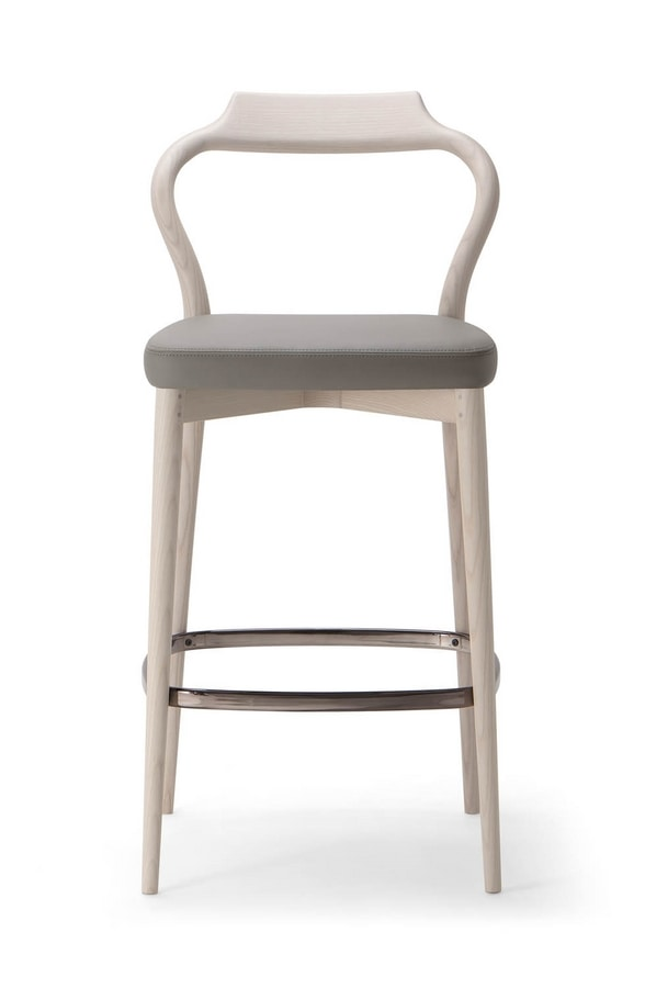 HER STOOL 023 SG, Stool with sinuous lines