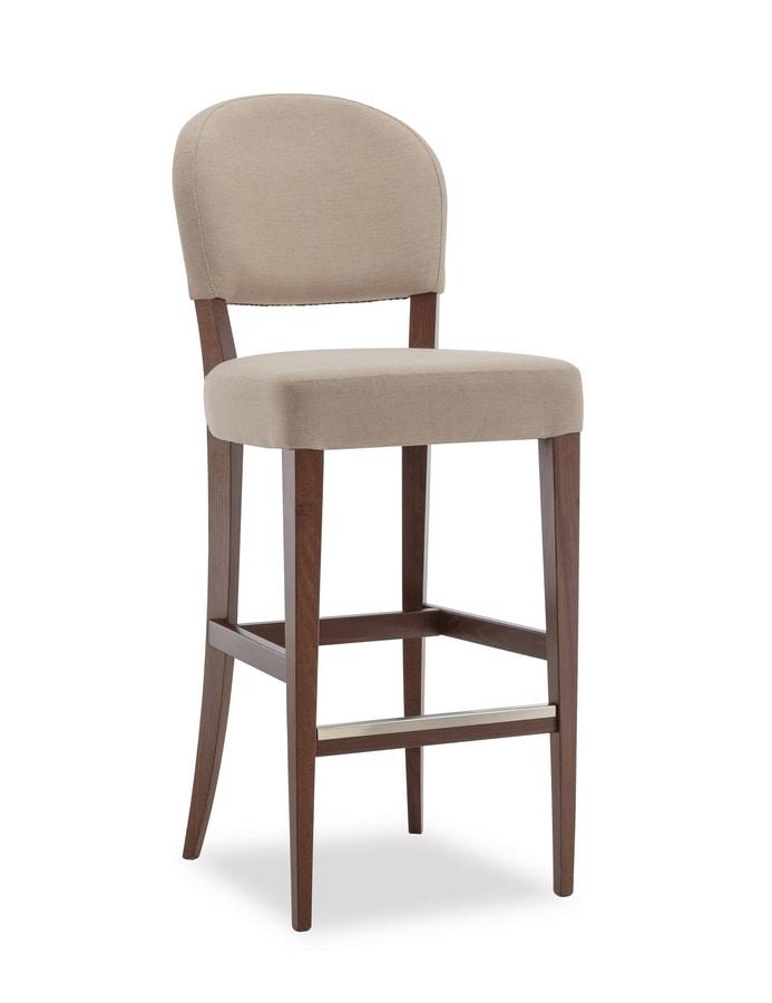 ISLANDA SG1, Upholstered wooden stool