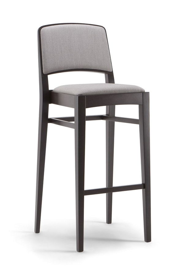 KYOTO BAR STOOL 046 SG, Wooden stool, with clean lines