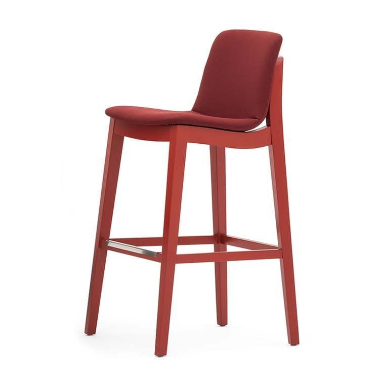 Light 03281, Solid wood stool, with handle on the back