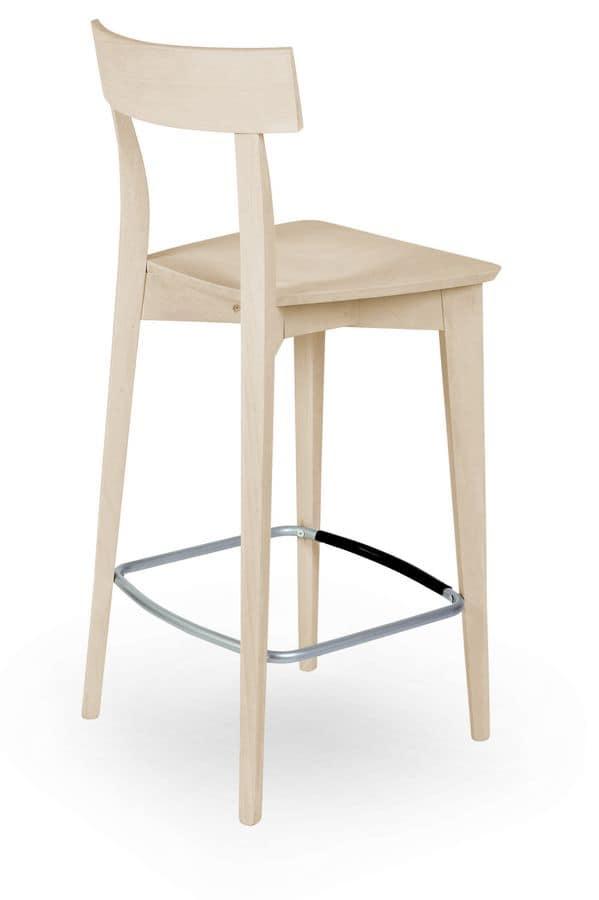 Lola SG, Barstool in solid wood, for modern bars