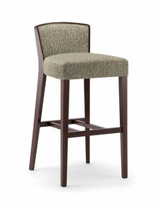 LONDON BAR STOOL 016 SG, Stool in wood, upholstered