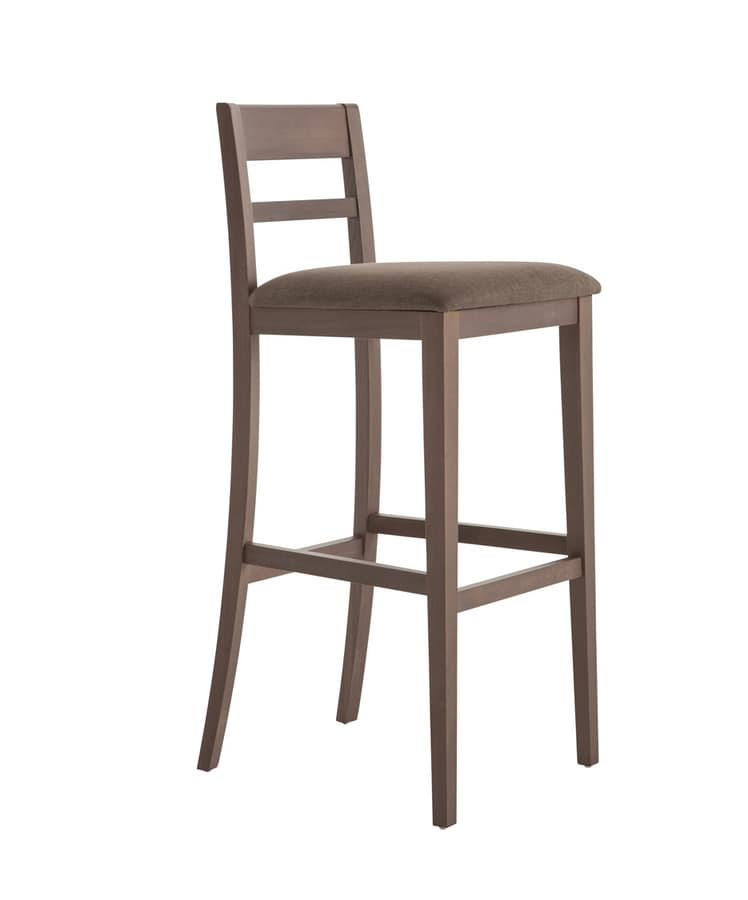 MP490EI, Wooden stool with backrest