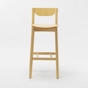 Nico stool, Wooden stool with backrest