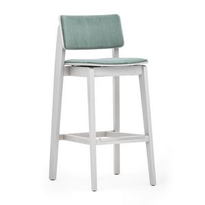Offset 02883, Elegant and versatile wooden barstool