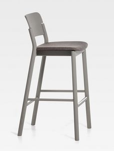 Pop, Modern stool with upholstered seat