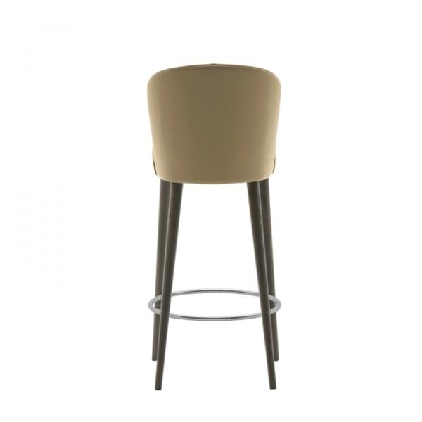Rose 03081, Padded stool with belted seat, with metal footrest