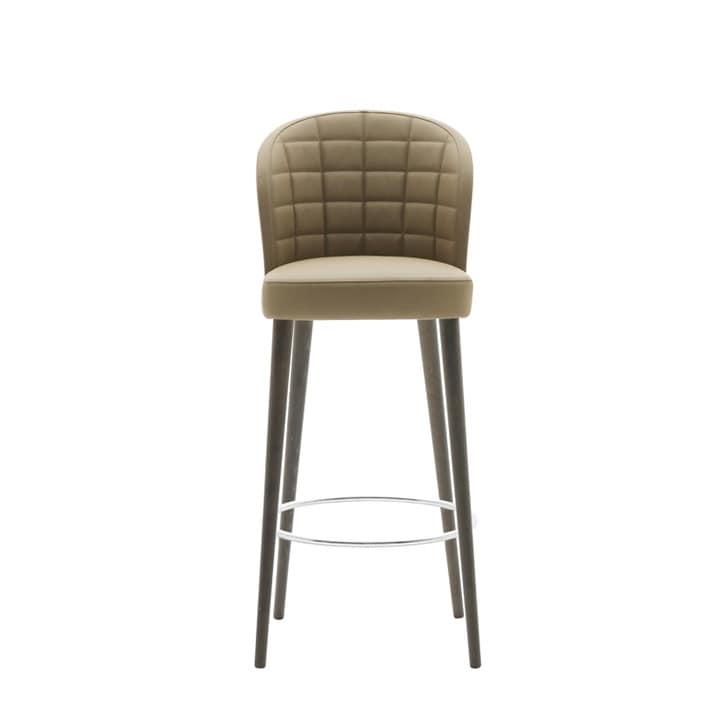 Rose 03084, Stool with backrest interior quilted in rectangles