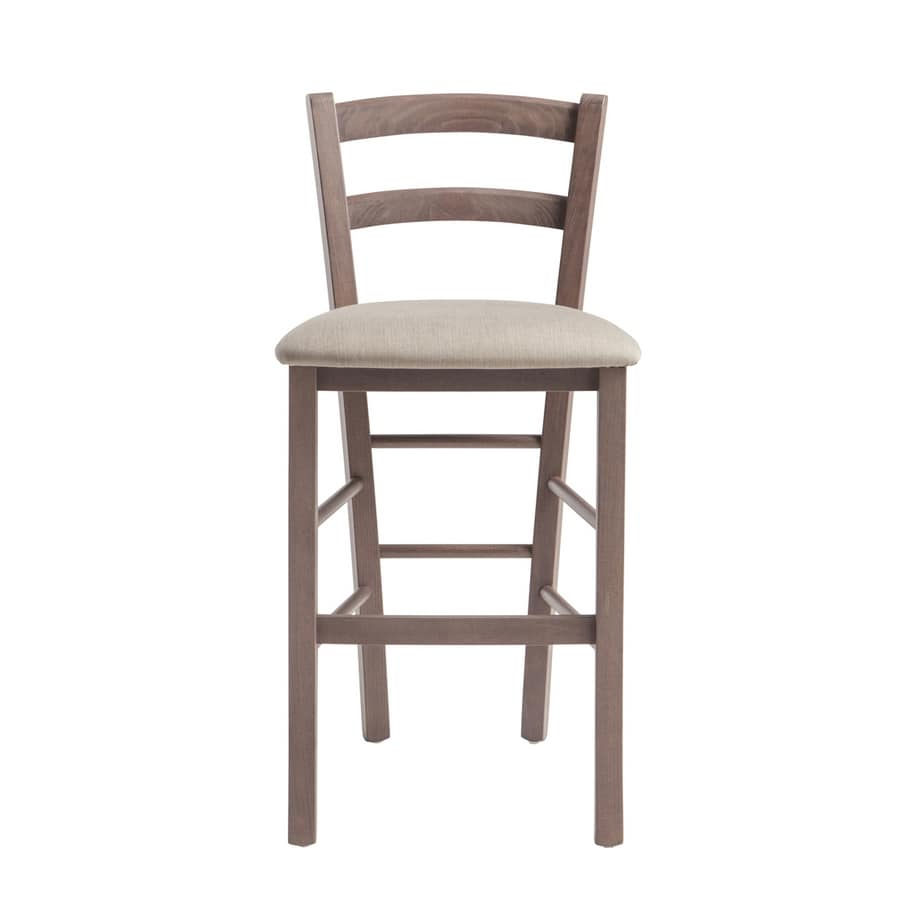 RP42AB h.63, Wooden stool with customizable seat