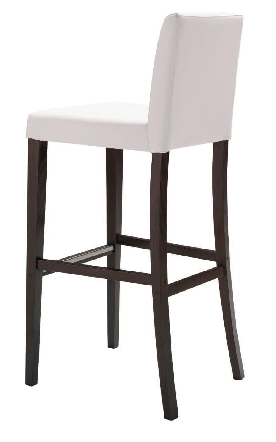 SG 47 / OG, Stool in painted wood, with backrest, for bars