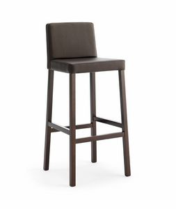 Relax SG, Wooden stool with padded seat and backrest